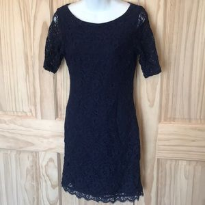 Dana Buchman Navy Blue Dress